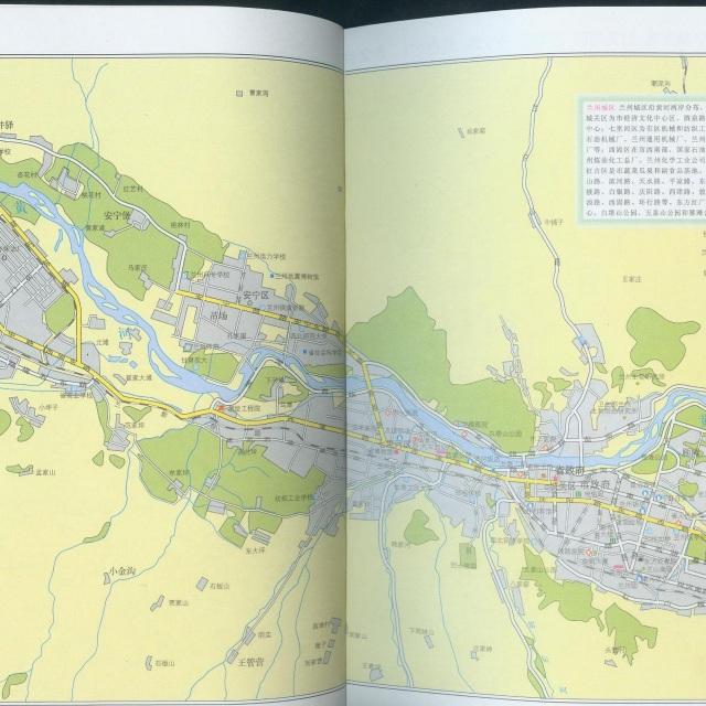 兰州市区旅游地图展示图片