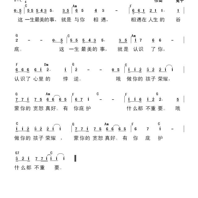 最美的事 - 禧年歌谱 - 橄榄枝乐队的相册 - 5sing