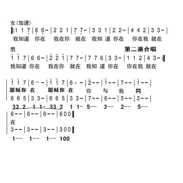 我知道你在2 - 合唱歌谱 - 雁子音乐室的相册 - 5sing