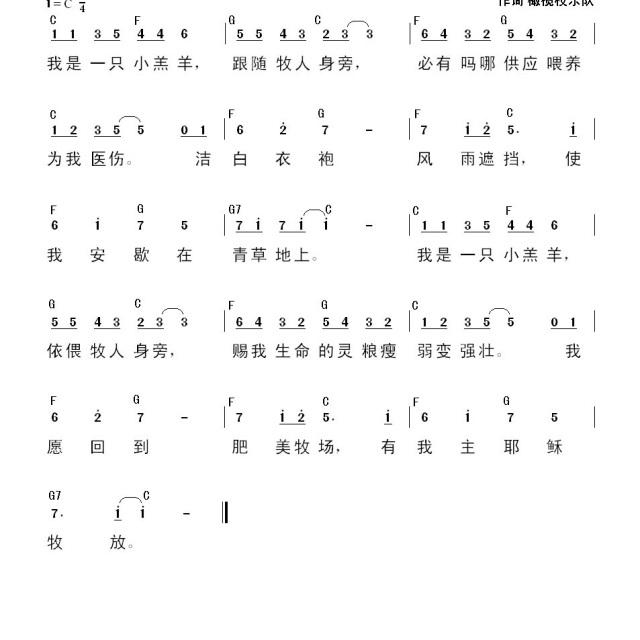 小羔羊 - 一粒麦子歌谱 - 橄榄枝乐队的相册 - 5sing