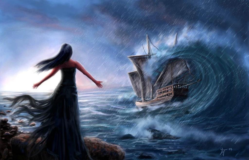 歌曲英文部分是海妖在唱歌,中文是第三者在讲诉海妖的故事