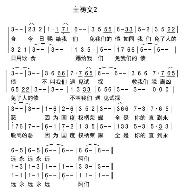 主祷文2 - 合唱歌谱 - 雁子音乐室的相册 - 5sing中国