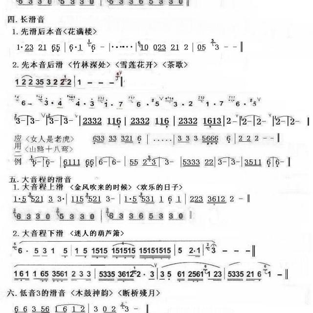 滑音实例(二){林韬讲课} - 葫芦丝教学用曲谱 - 兰前