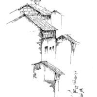 中国古镇简笔画